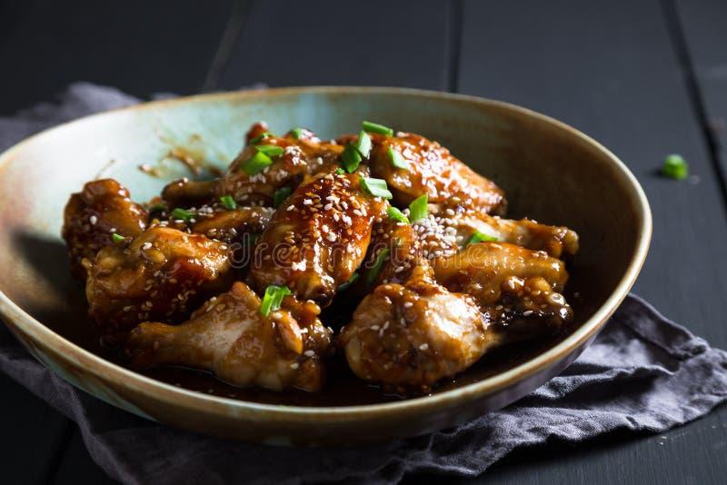 Ailes de poulet de Teriyaki image stock
