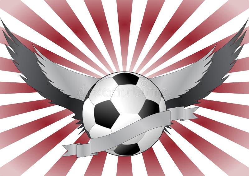 Ailes de Soccerball illustration de vecteur