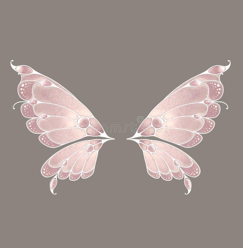 ailes féeriques illustration stock