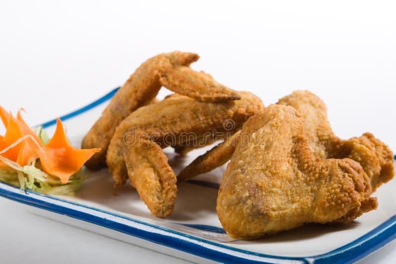 ailes frites par poulet image stock