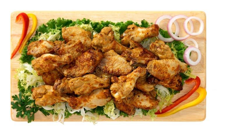 Ailes rôties de poulet images stock