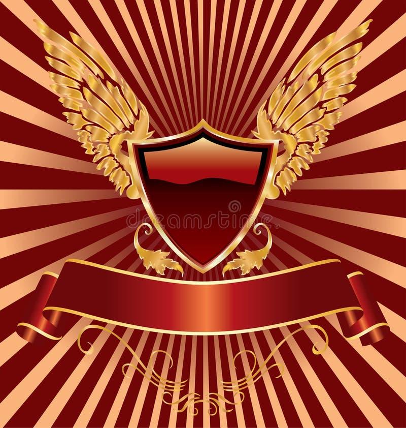 Ailes rouges d'écran protecteur illustration libre de droits