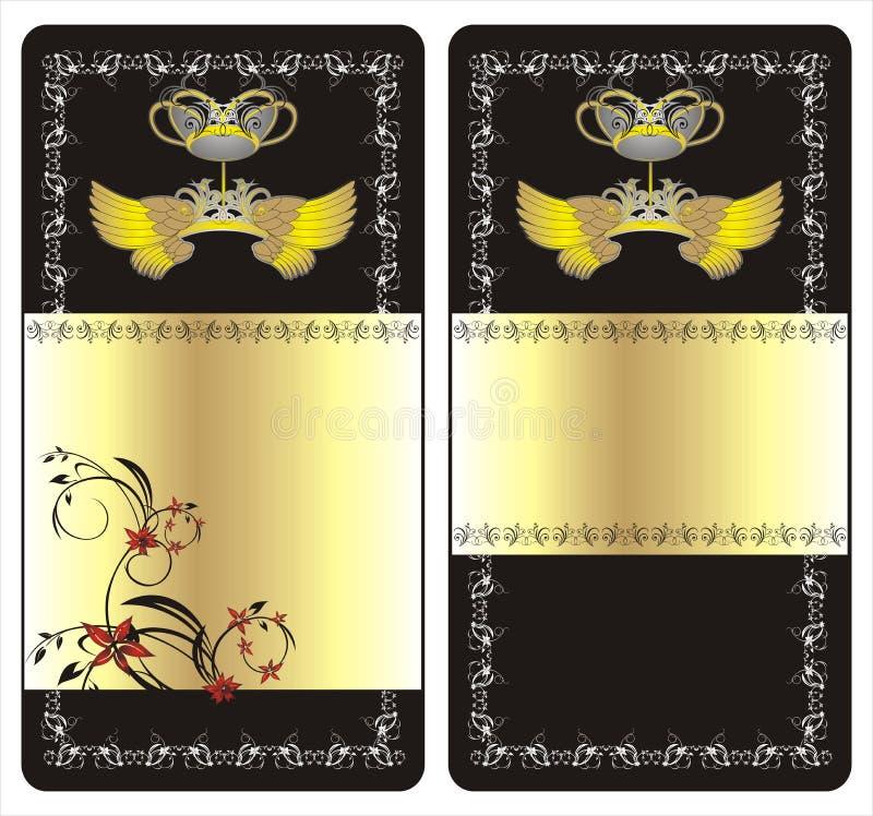 Ailes, tête et ornement floral illustration libre de droits