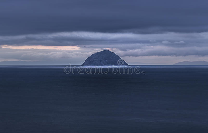 Ailsa Craig island royalty free stock photos