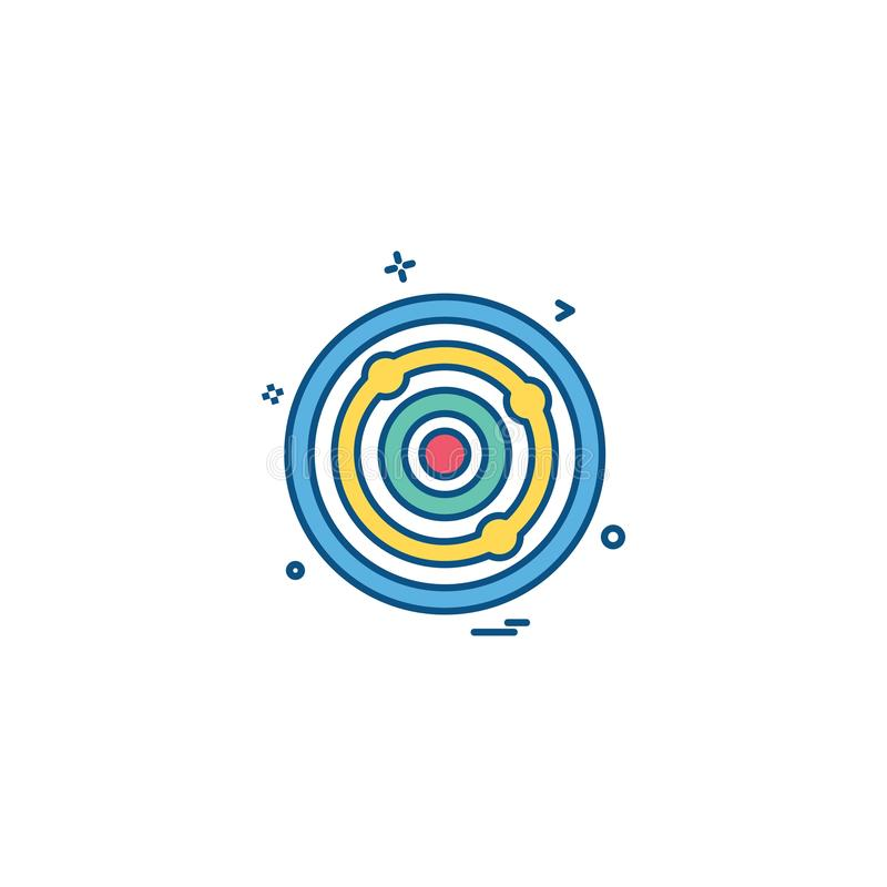 aim archery focus goal success target icon vector design royalty free illustration