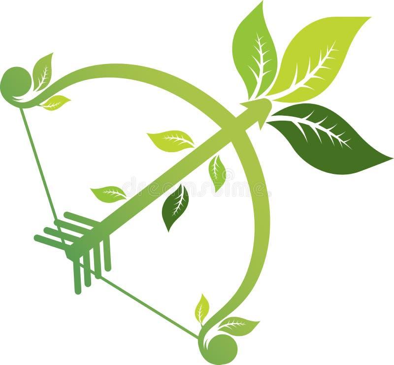 Aim arrow leaf vector illustration