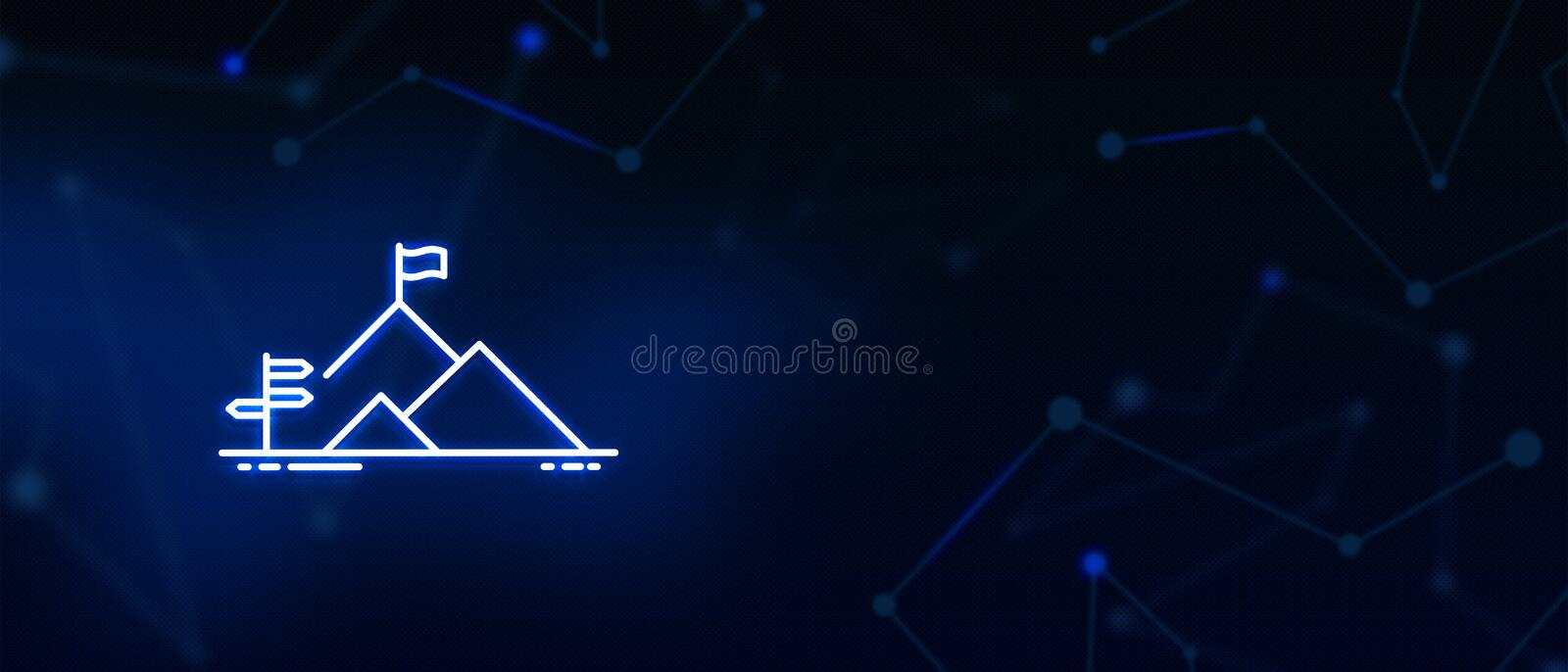 Aim, Business opportunity, direction, Target, Aspiration, Success growth concept, background. Aim, Business opportunity direction, Target growth, Aspiration stock illustration
