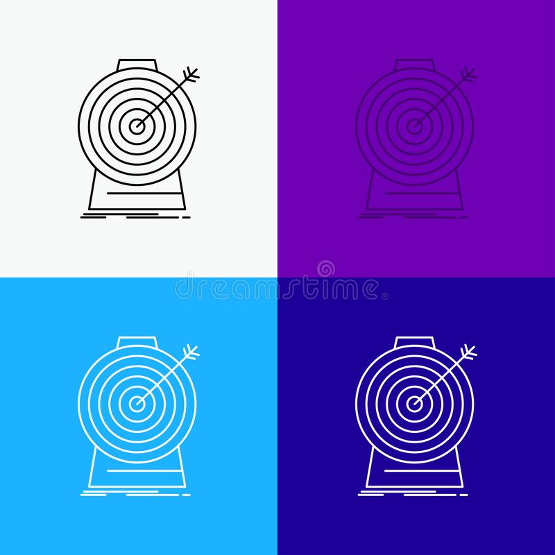 Aim, focus, goal, target, targeting Icon Over Various Background. Line style design, designed for web and app. Eps 10 vector vector illustration