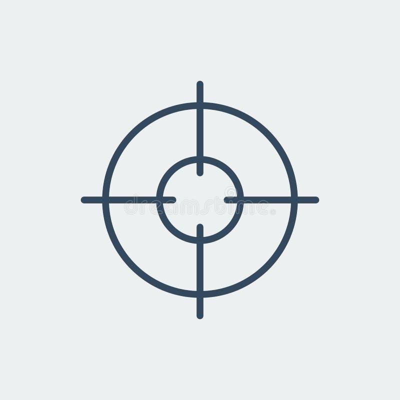 Aim icon. Target symbol. Crosshair. Vector illustration. Aim icon. Target symbol. Crosshair. Silhouette vector illustration stock illustration