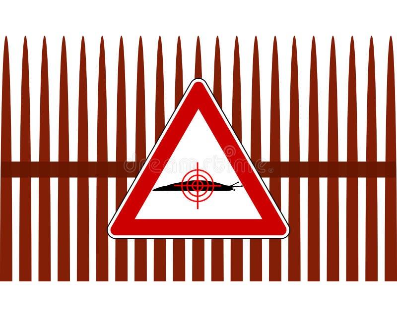 Aim at slugs vector illustration