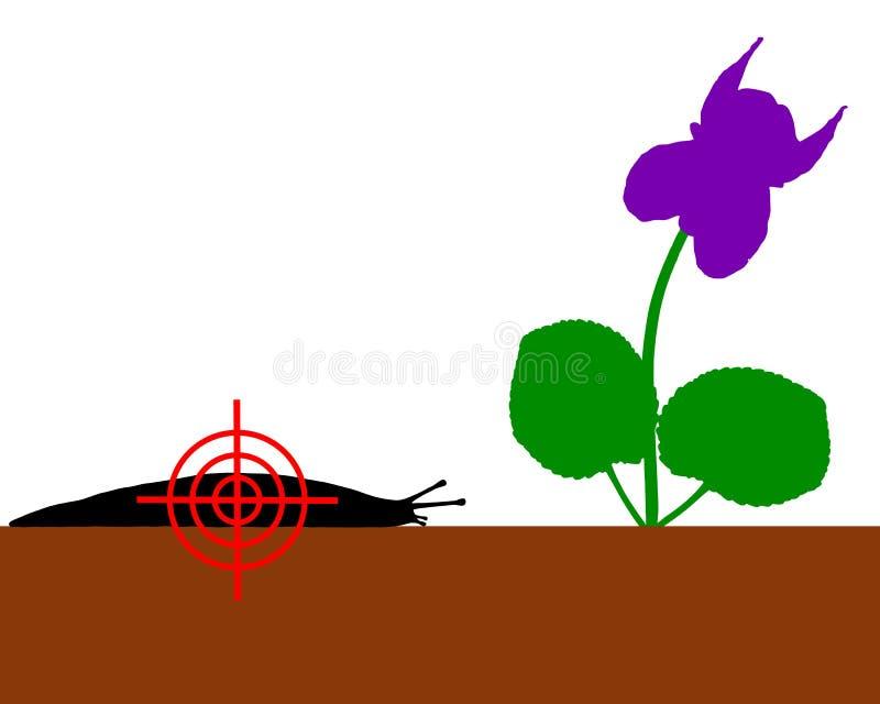 Aim at slugs royalty free illustration