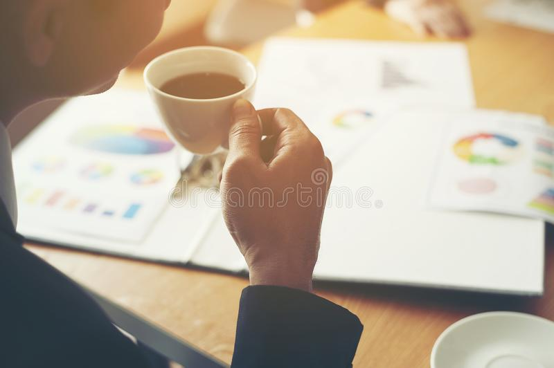 The aim is to succeed in doing business. Financial Business Conference And work unity. Teamwork is good royalty free stock image