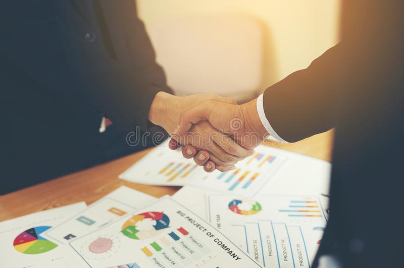 The aim is to succeed in doing business. Financial Business Conference And work unity. Teamwork is good stock photos