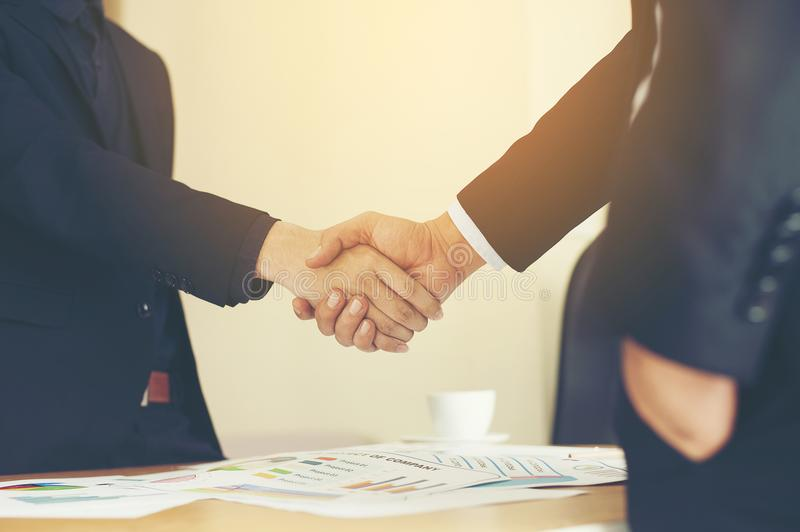 The aim is to succeed in doing business. Financial Business Conference And work unity. Teamwork is good royalty free stock images