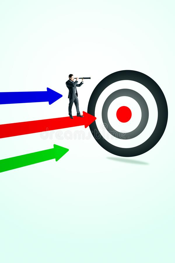 Aim, vision and success concept stock illustration