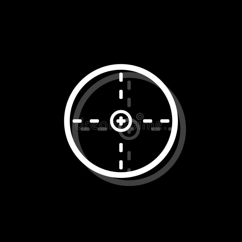 Aim icon flat vector illustration
