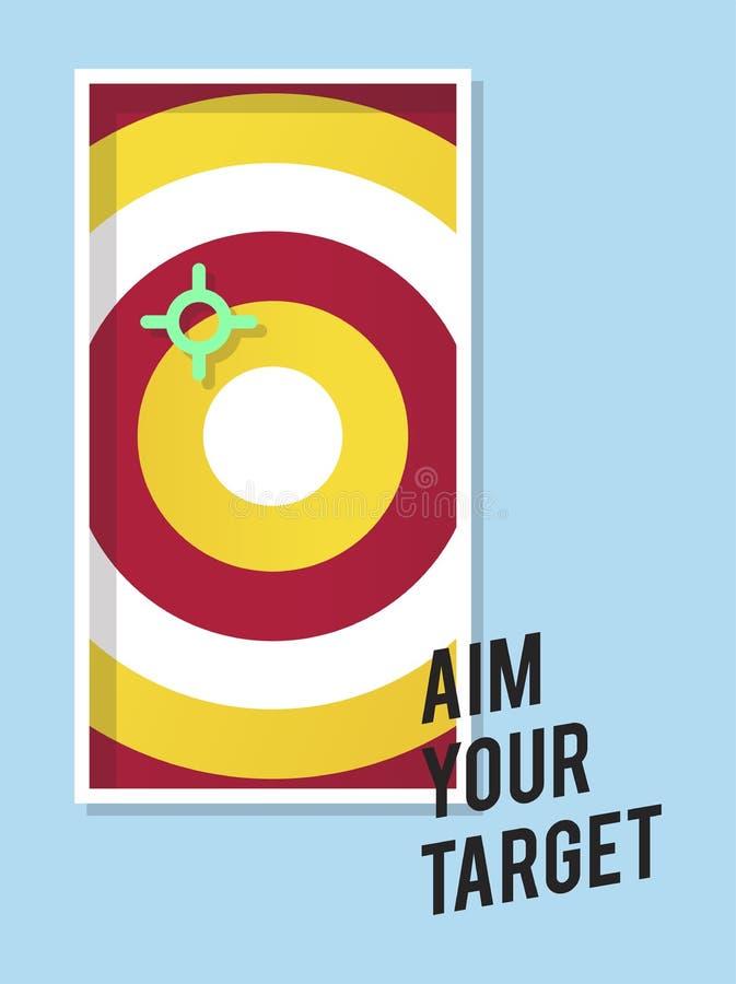 Aim your target illustration business marketing stock illustration