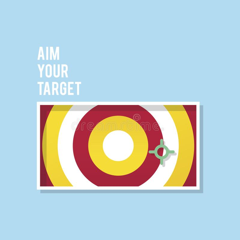 Aim your target illustration business marketing vector illustration