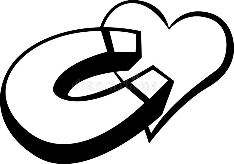 Aimant d'amour illustration de vecteur