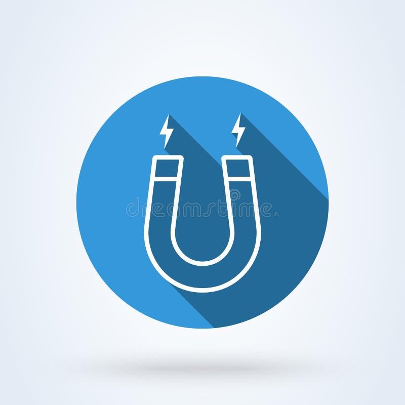 Aimant et schéma de magnétisme Illustration moderne de conception d'icône de vecteur simple illustration de vecteur