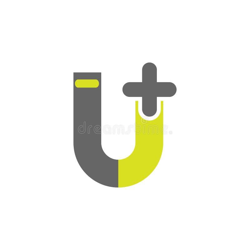 Aimant, icône de magnétisme Élément d'icône d'expérience de la Science pour des applis mobiles de concept et de Web L'aimant déta illustration stock