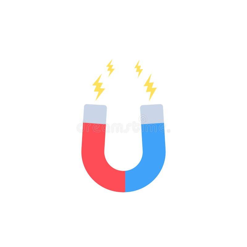 Aimant, icône de magnétisme illustration de vecteur