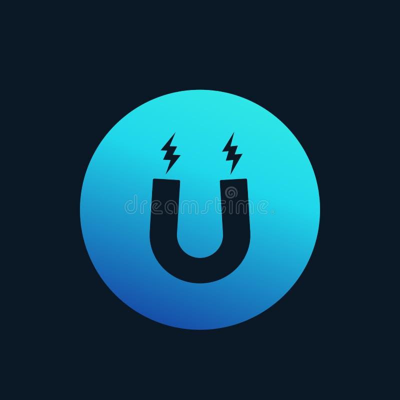 Aimant, icône de vecteur de magnétisme illustration de vecteur