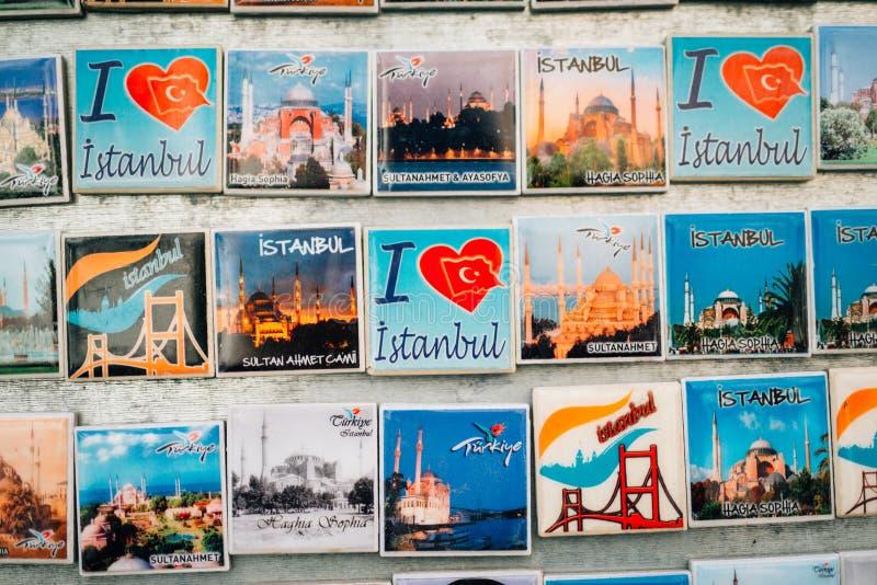 Aimants de réfrigérateur à Istanbul photo stock