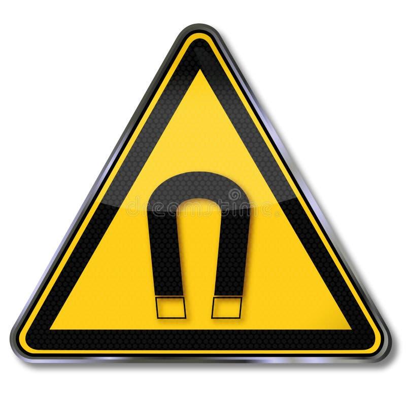Aimants et magnétisme de danger illustration stock