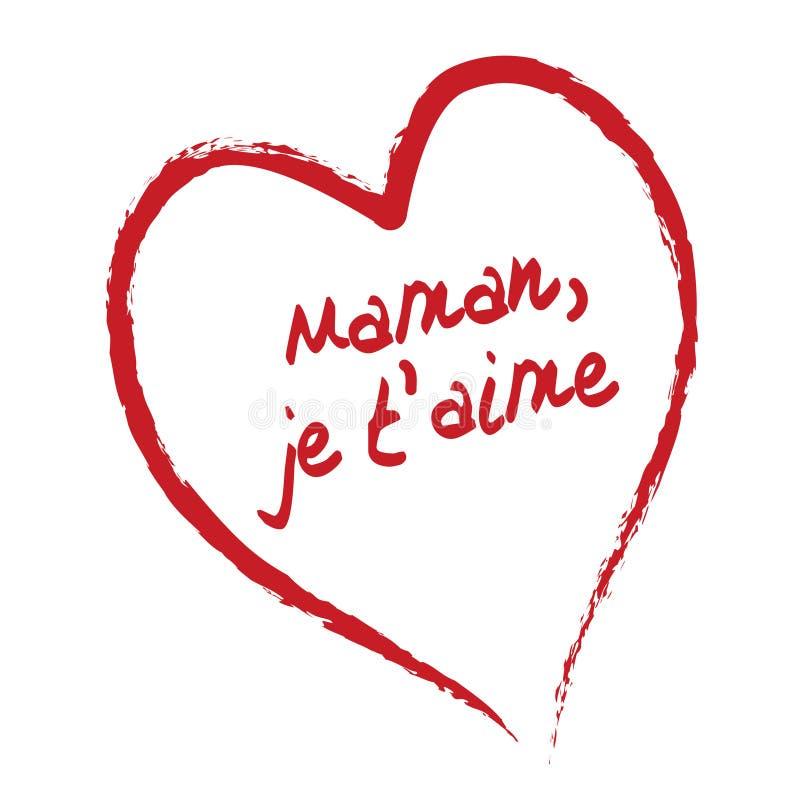 aime to miłość mamo t, ilustracja wektor