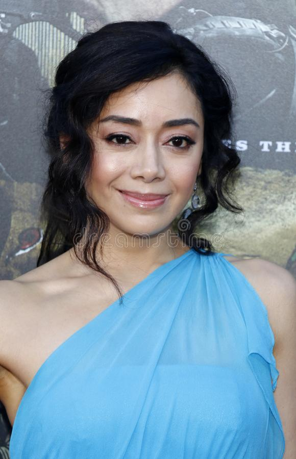 Aimee Garcia. At the Los Angeles premiere of `Sicario: Day Of The Soldado` held at the Regency Village Theatre in Westwood, USA on June 26, 2018 stock photo