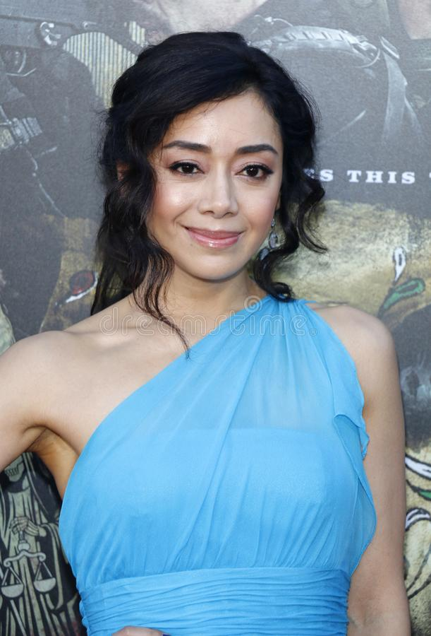 Aimee Garcia. At the Los Angeles premiere of `Sicario: Day Of The Soldado` held at the Regency Village Theatre in Westwood, USA on June 26, 2018 royalty free stock image