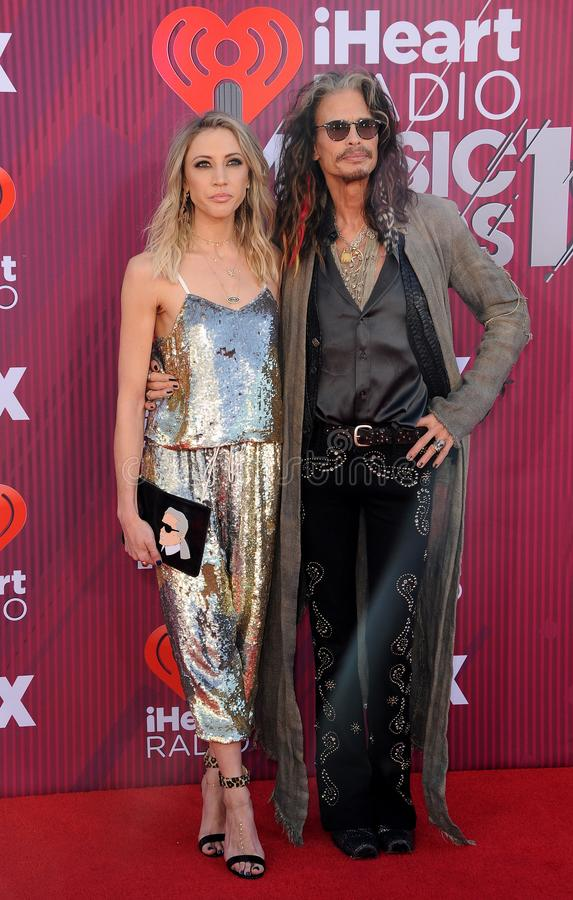 Aimee Preston, Steven Tyler stock images