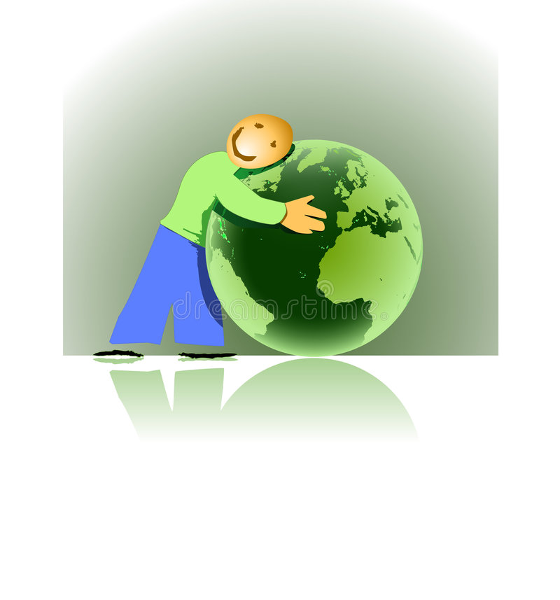 aimer de la terre illustration stock