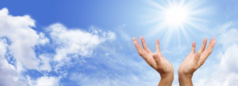 Aimer la bannière de soleil photos stock