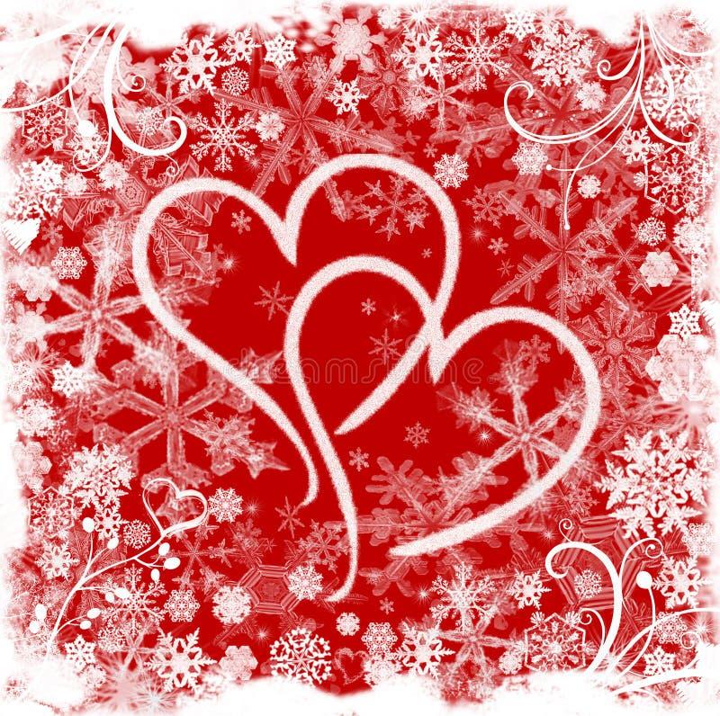 Aimez en hiver illustration libre de droits