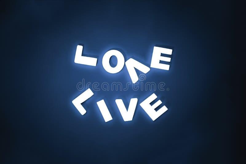 Aimez et vivez, deux mots complémentaires image stock