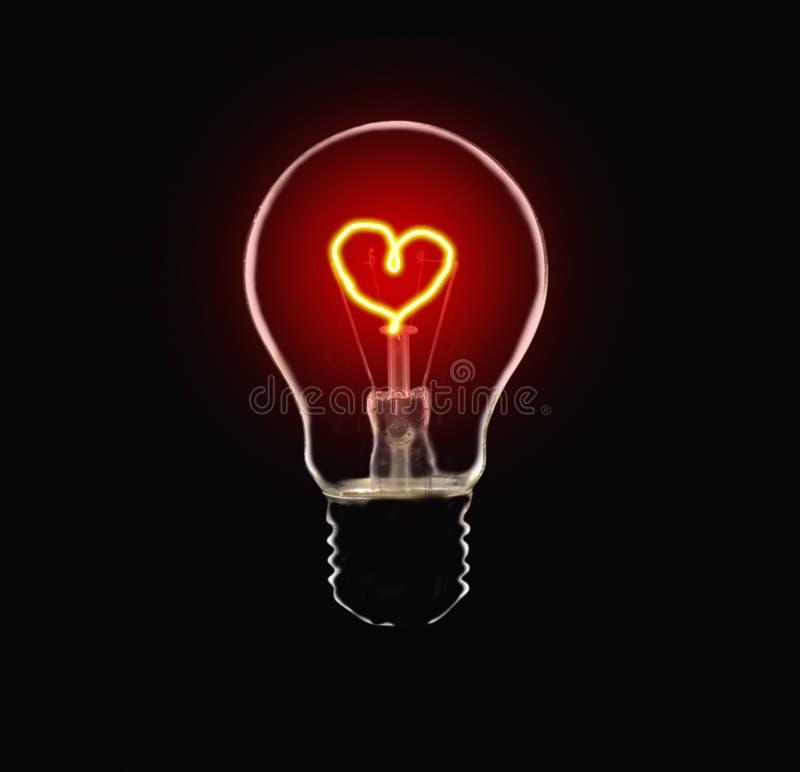 Aimez l'ampoule image libre de droits