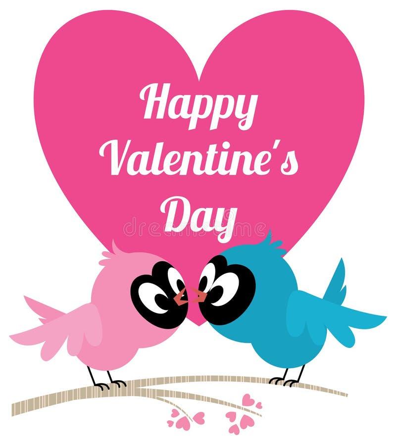 Aimez la carte d'invitation d'oiseaux pour épouser ou carte de Valentine illustration de vecteur