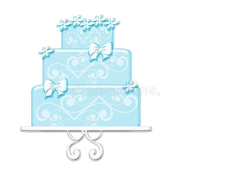 Aimez Le Gâteau Bleu Photographie stock libre de droits