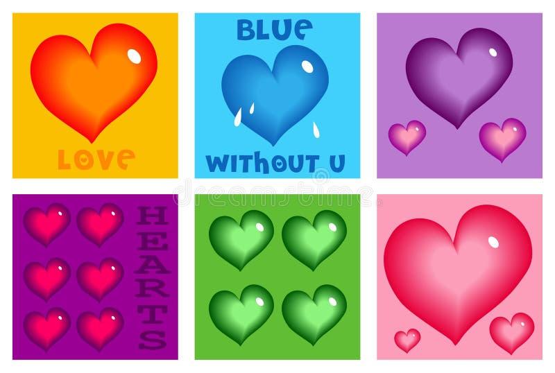 Aimez Les Coeurs Image stock