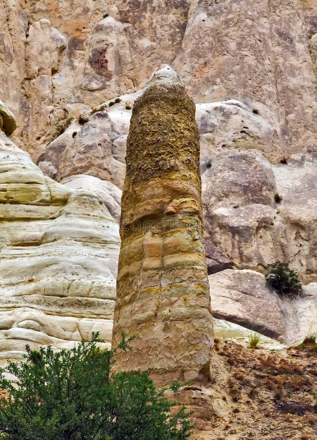 Aimez les formations de roche de vallée, le paysage de montagne dans Cappadocia, T images stock