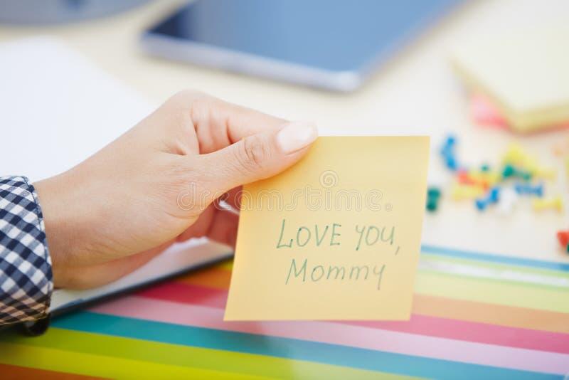 Aimez-vous maman image libre de droits