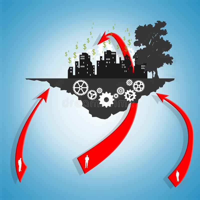 Download Aiming for big profits stock illustration. Illustration of innovation - 36680212