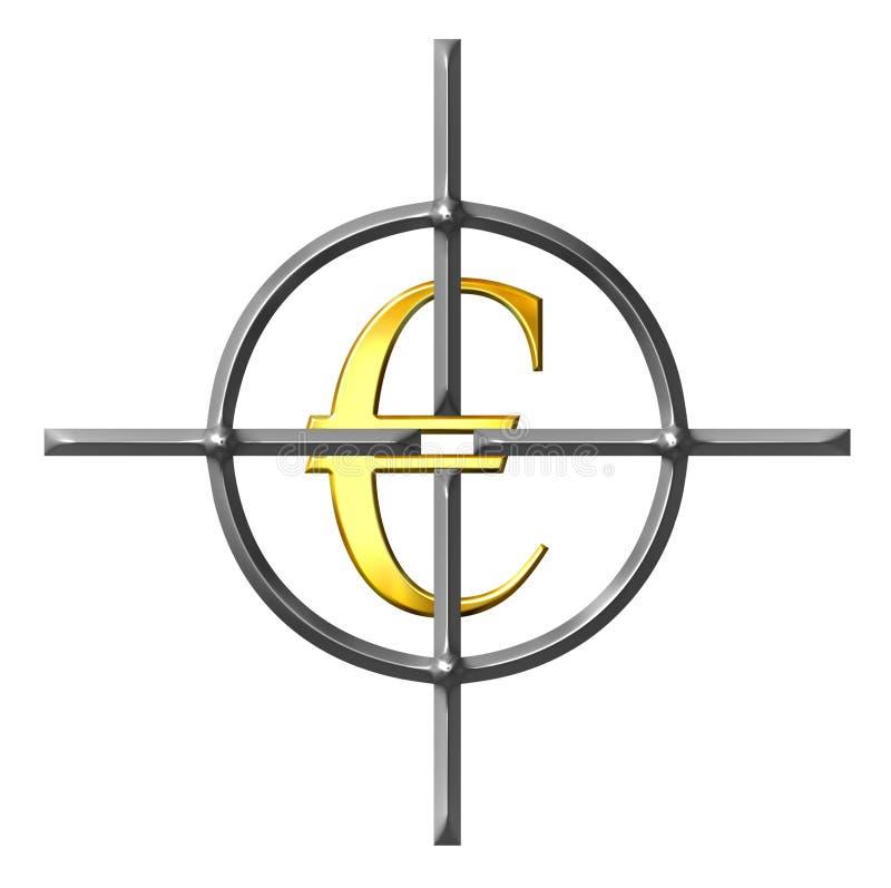Aiming Euros vector illustration