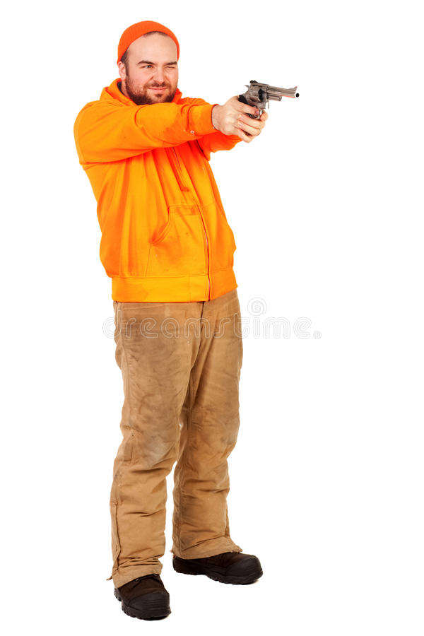 Download Aiming a Pistol stock image. Image of sport, security - 13043521