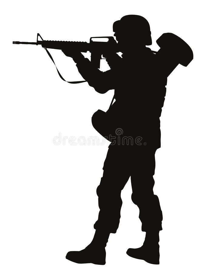 Free Aiming Soldier. Warriors Theme Stock Photos - 42246173