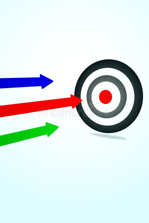 Aiming and success concept royalty free illustration