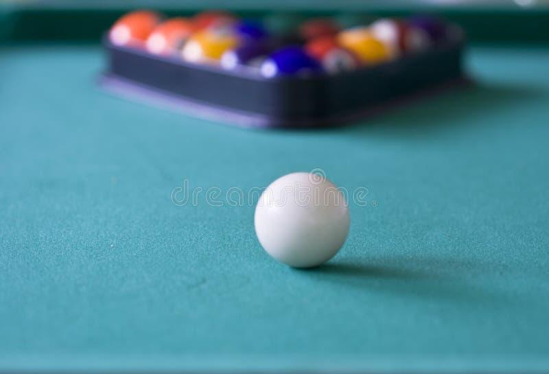 Aiming white ball stock image