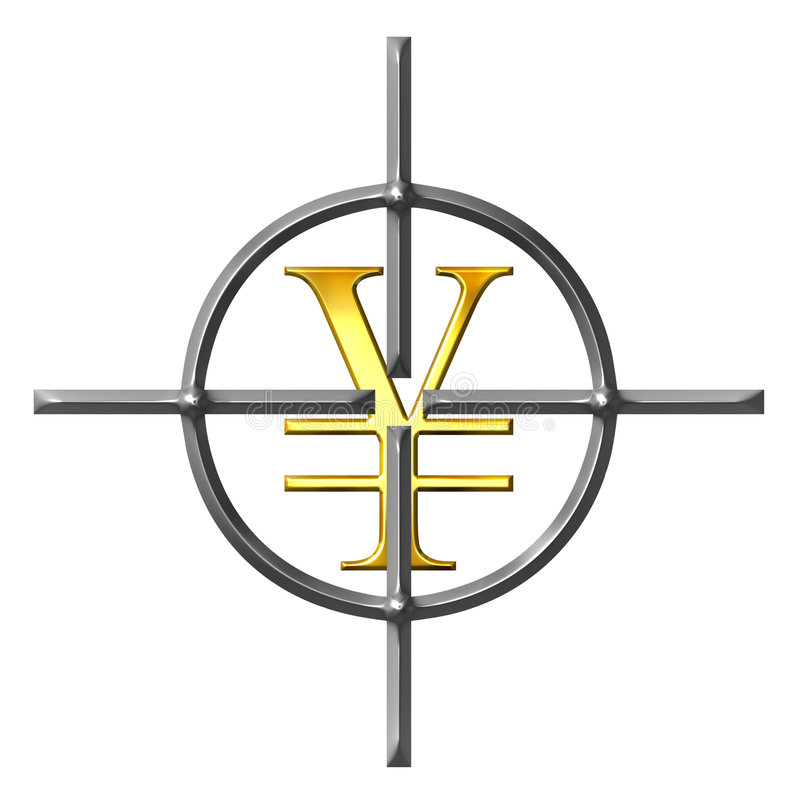 Aiming Yen vector illustration